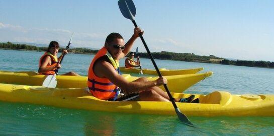 Navegando con amigos en Alcaniz