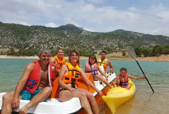Navegando en familia en la comarca del Matarranya