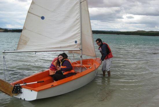 Salimos con velero en Alcaniz