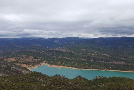 Vistas aereas Pantano de Pena Valderrobres