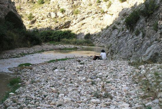 Descansando de la ruta Alcaine y Obon