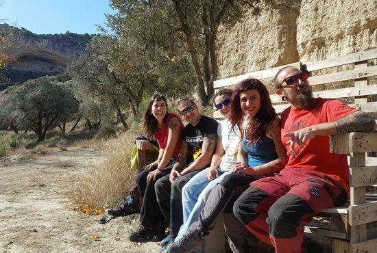 De ruta senderista en Albalate con la pareja y amigos