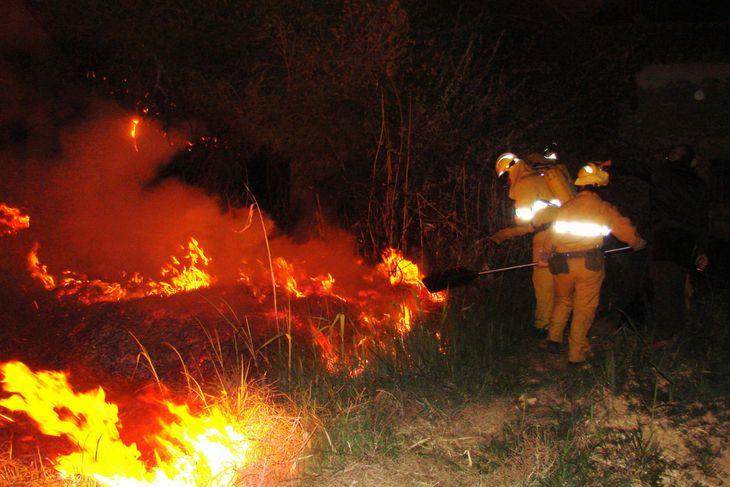 Avisando de incendios en Teruel